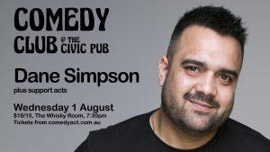 Comedy Club featuring Dane Simpson