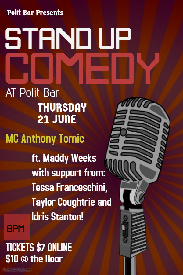 Copy of stand up comedy flyer template - Made with PosterMyWall (2)