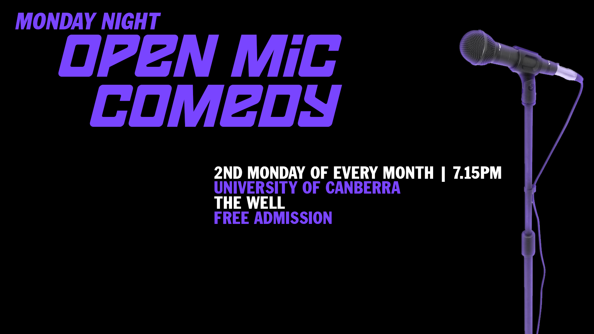 monday night open mic facebook cover