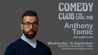 Comedy Club featuring Anthony Tomic